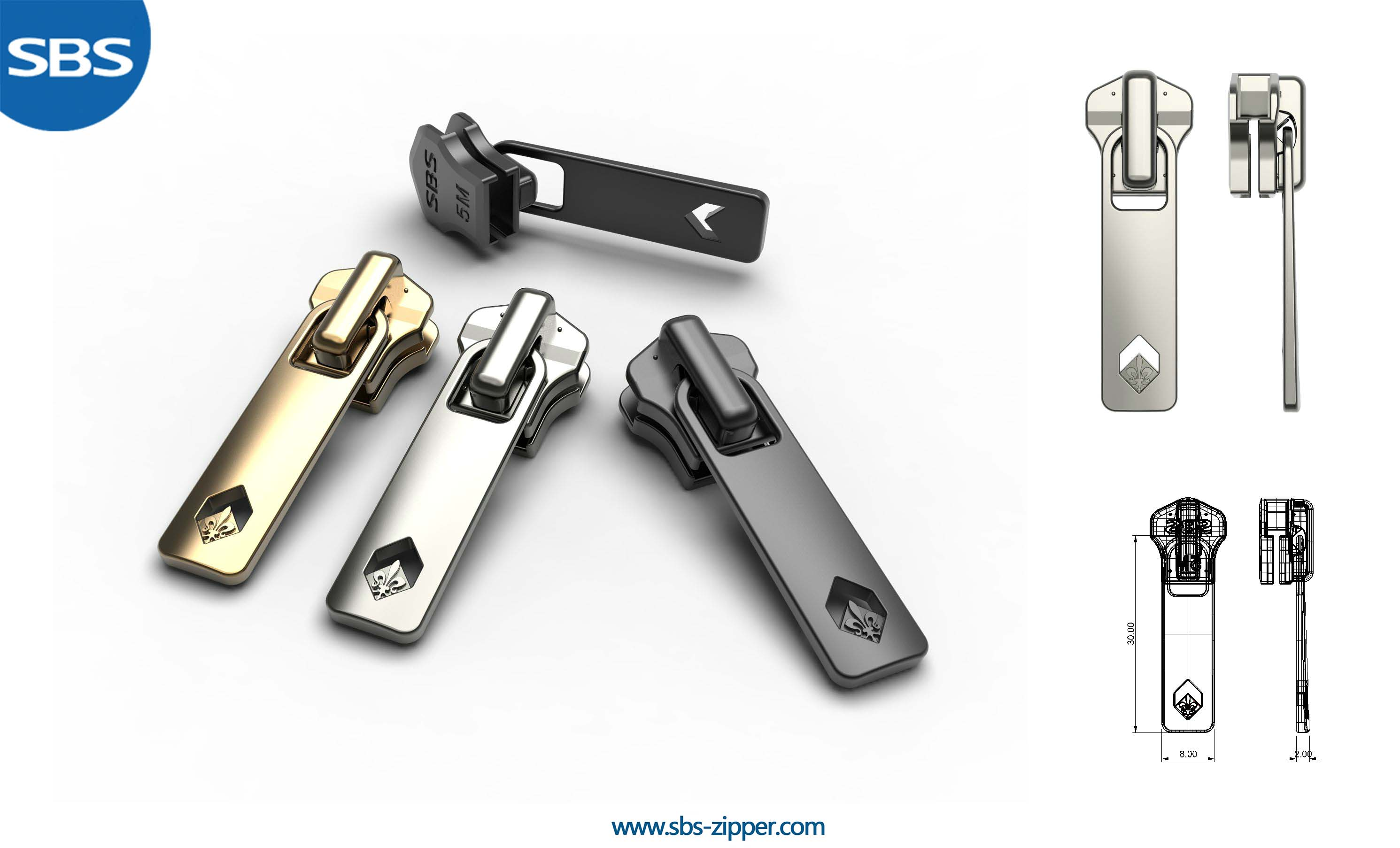 Zipper Puller Design Supplier 17SMC003 | SBS Zipper