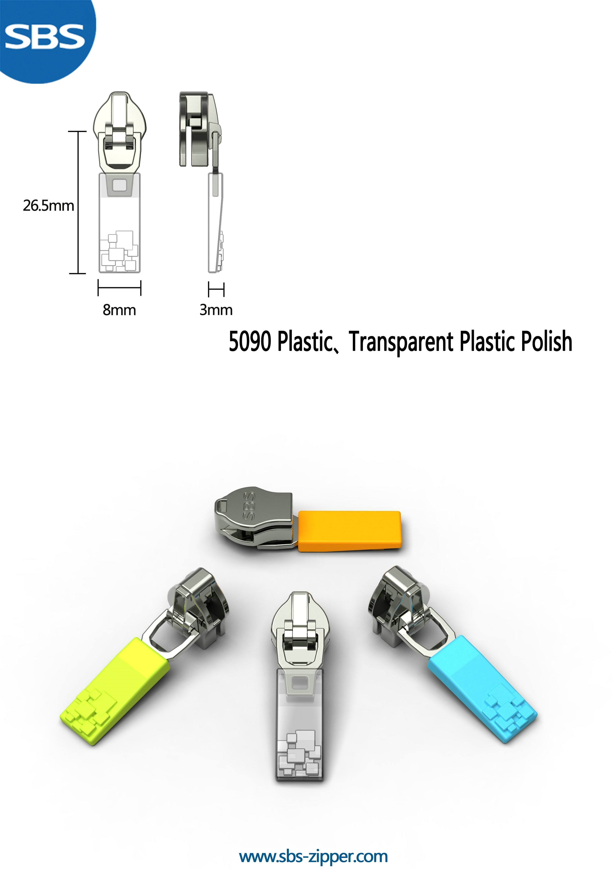 Zipper Pulls Custom Wholesale 17SSO033 | SBS Zipper