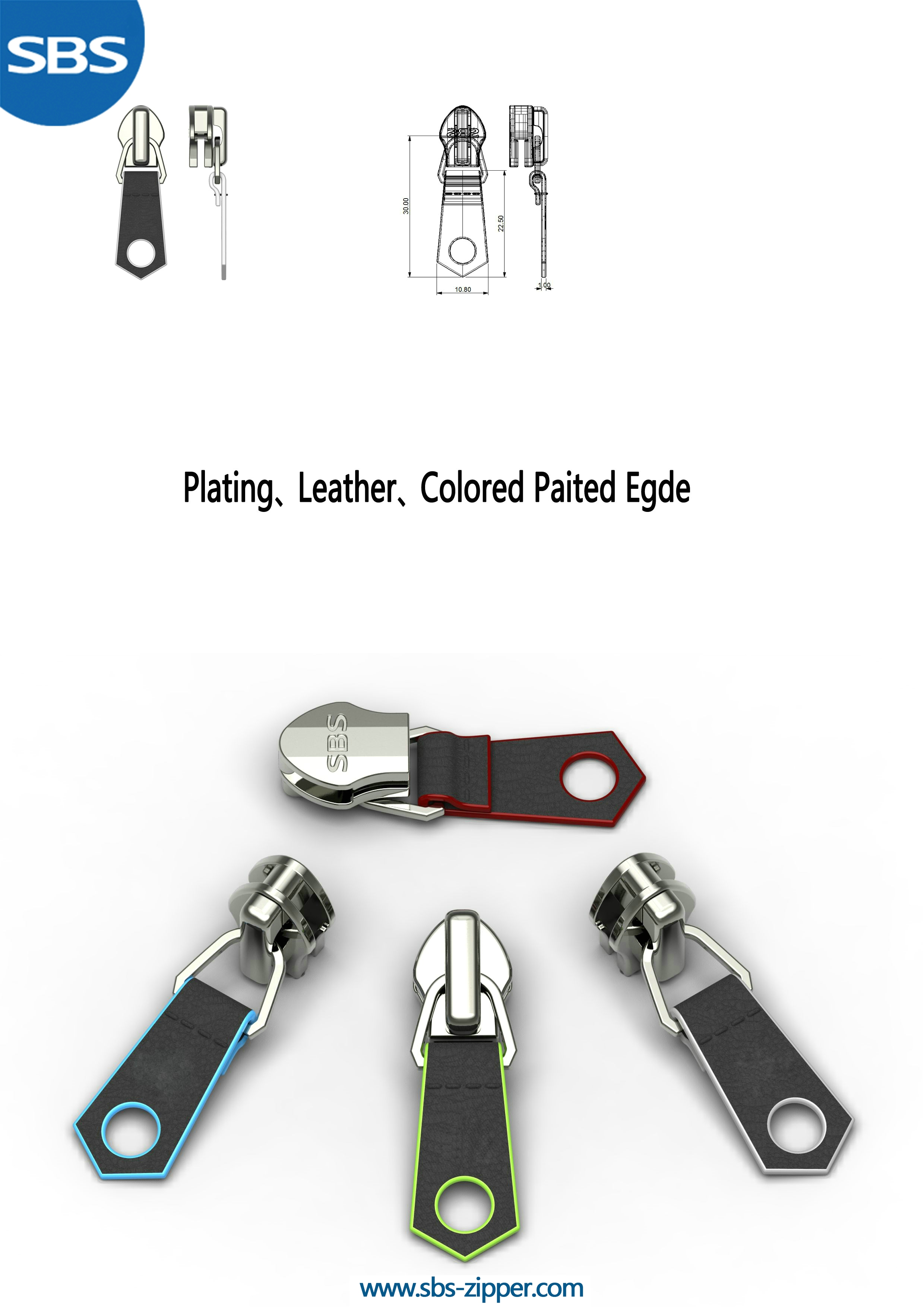 Luggage Zipper Pulls Manufacturer 17SSO040 | SBS Zipper