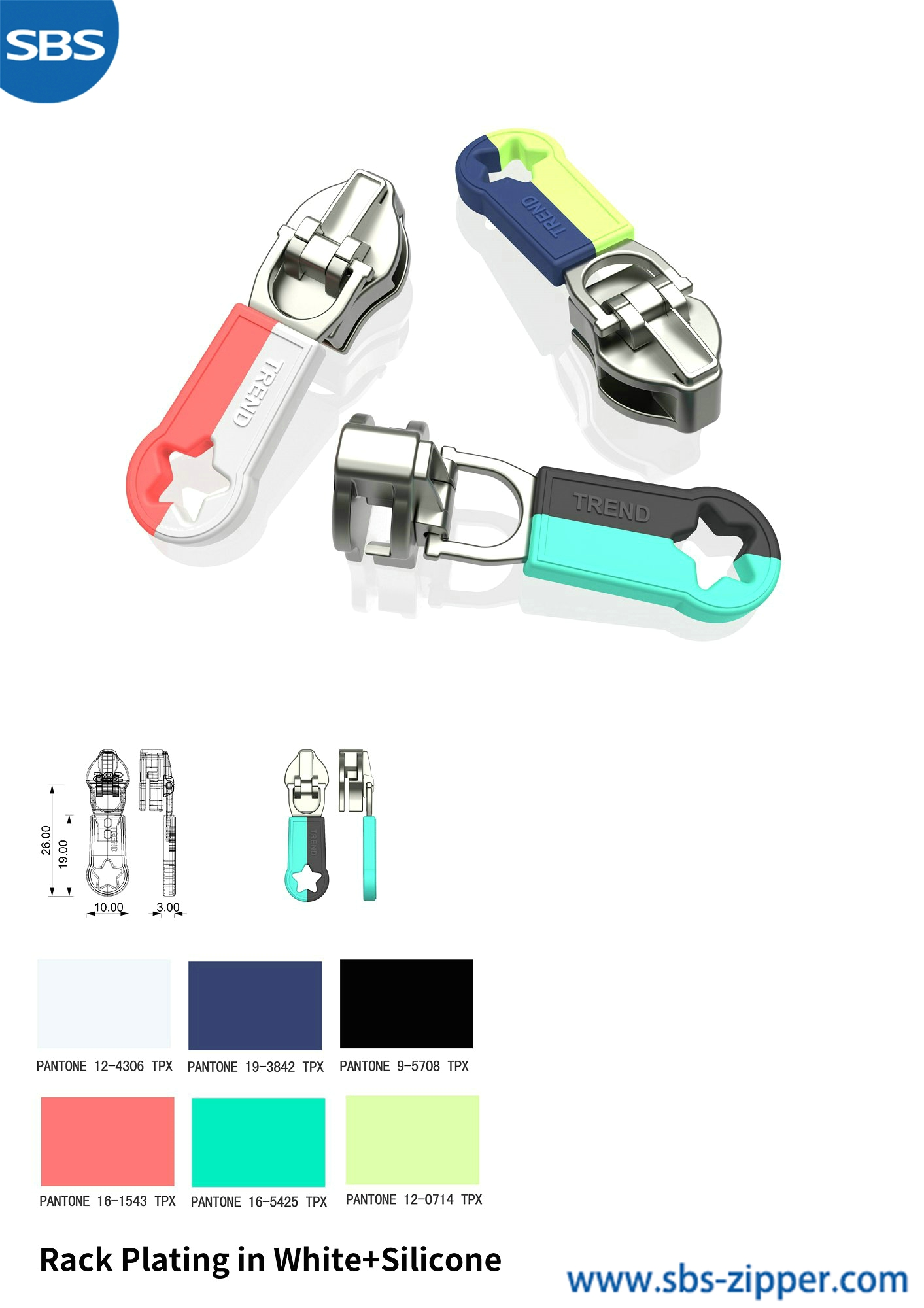 Custom Metal Zipper Pulls Supplier 18ACC004丨sbs-zipper.com