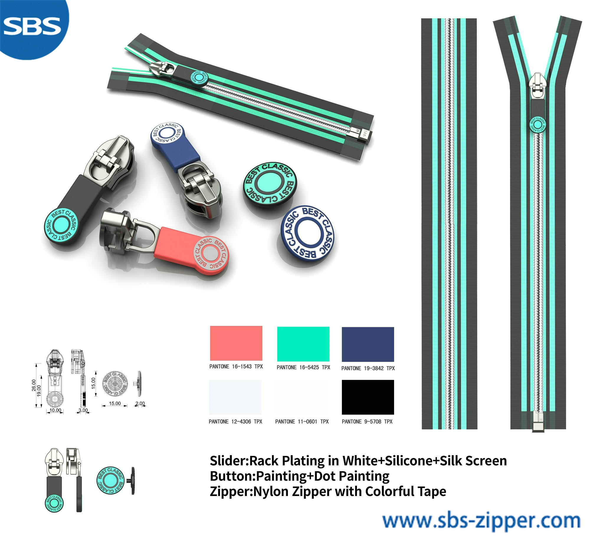 Custom Metal Zipper Pulls Wholesale 18ACC005丨sbs-zipper.com