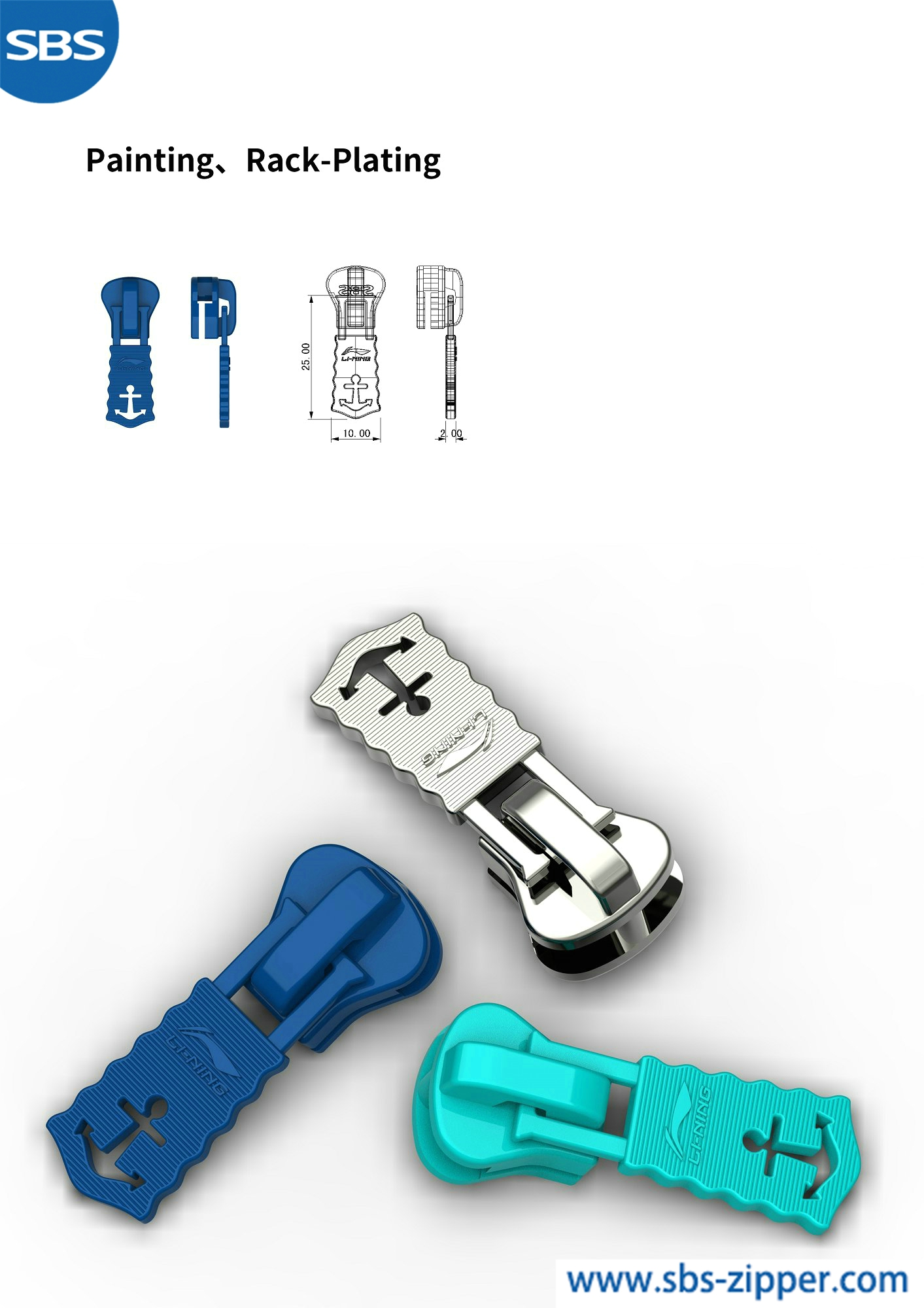 Customized Zipper Pulls Supplier 18ACC012丨sbs-zipper.com