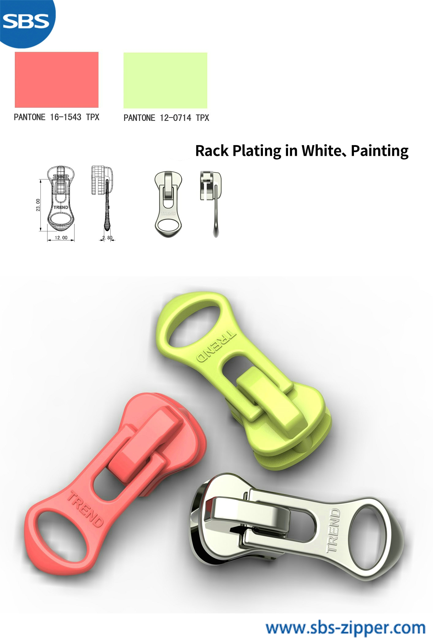 Decorative Zipper Pulls Wholesale 18ACC020丨sbs-zipper.com