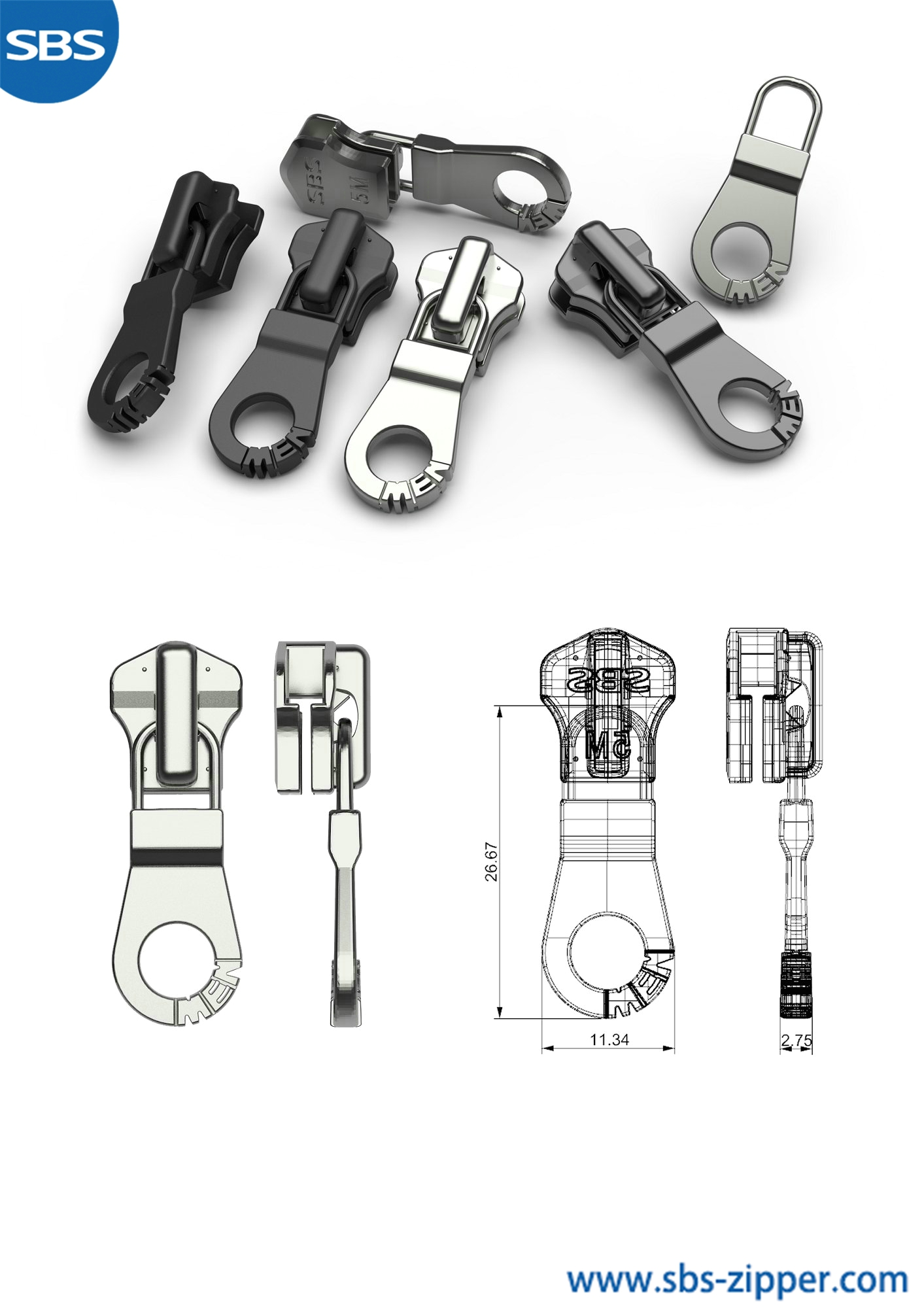 Personalized Zipper Pulls Manufacturer 18AMC019丨SBS Zipper