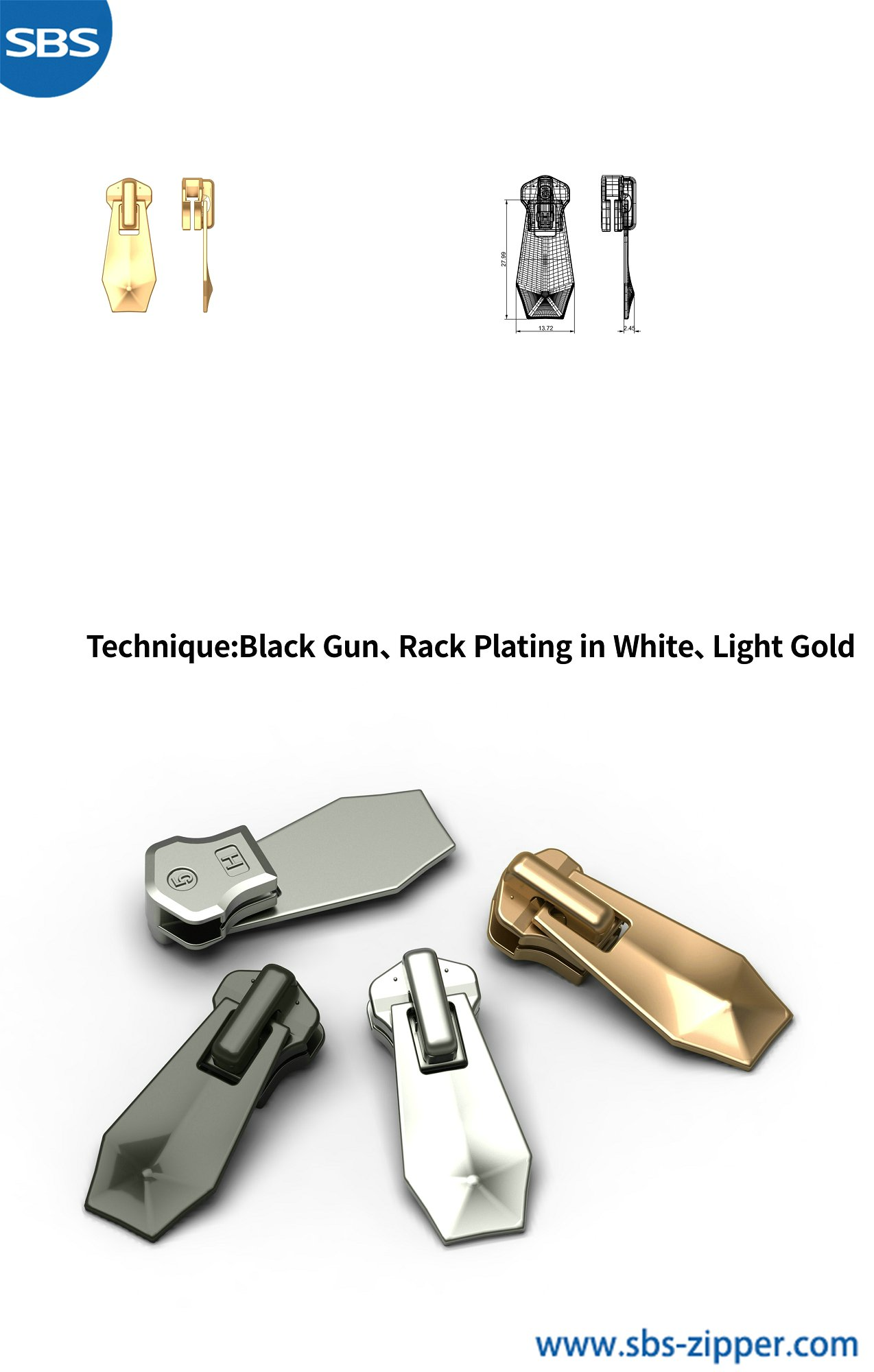 Metal Zipper Pulls Supplier 18AWC022丨sbs-zipper.com