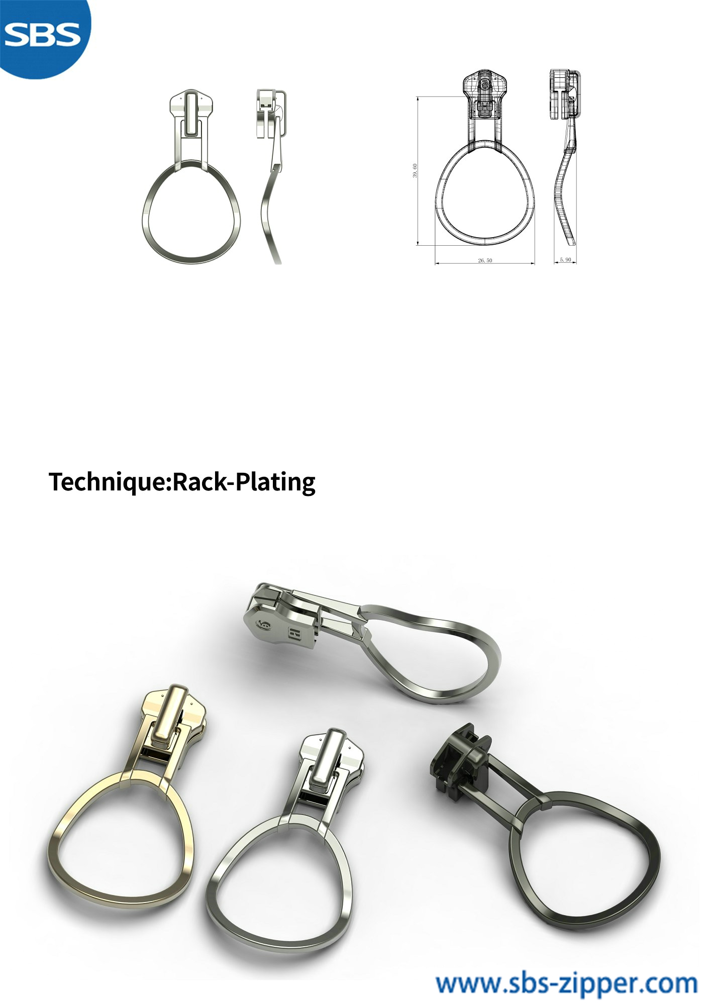 Heavy Duty Zipper Pulls Supplier 18AWC026丨sbs-zipper.com