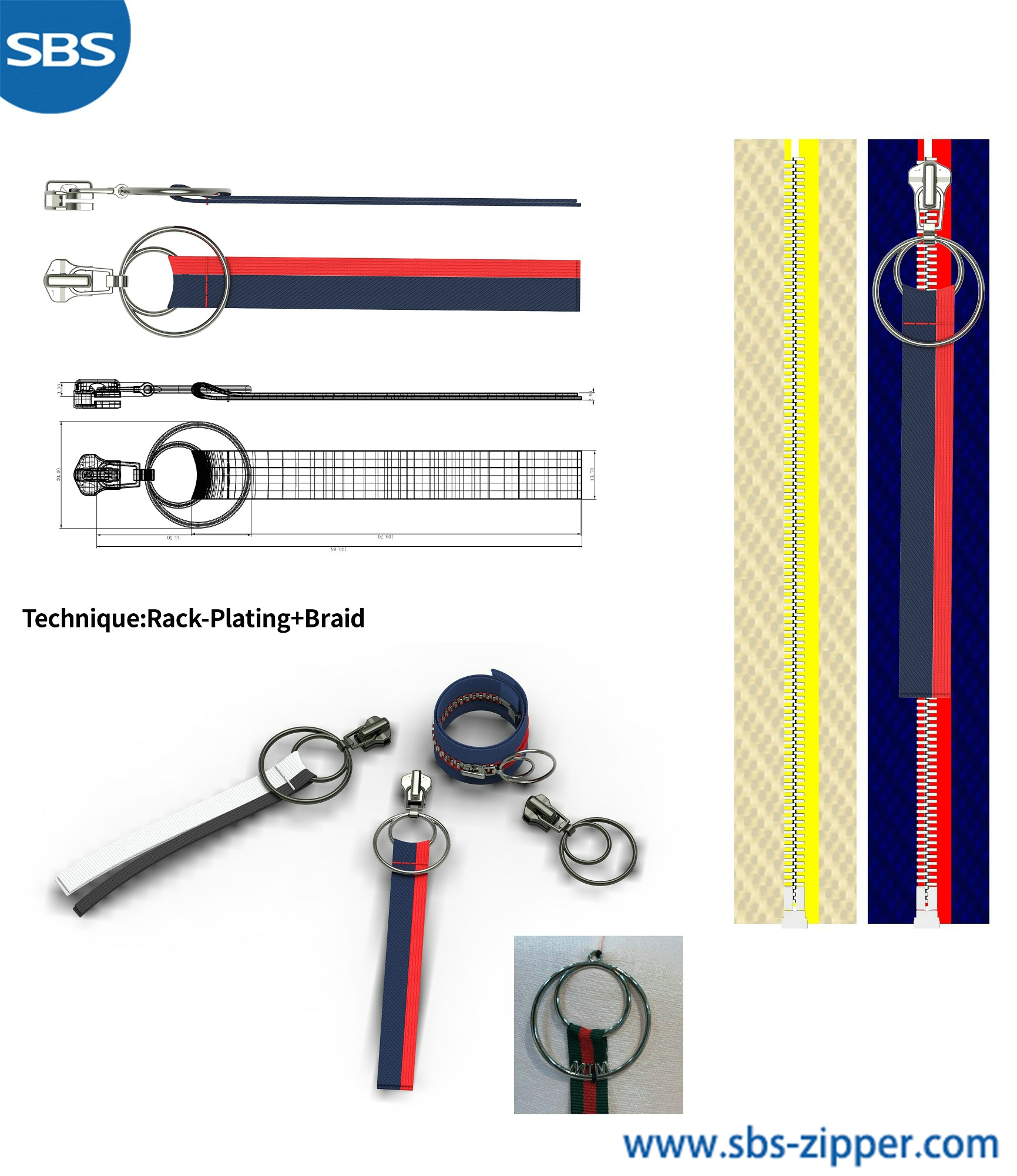 Heavy Duty Zipper Pulls Provider 18AWC027丨sbs-zipper.com