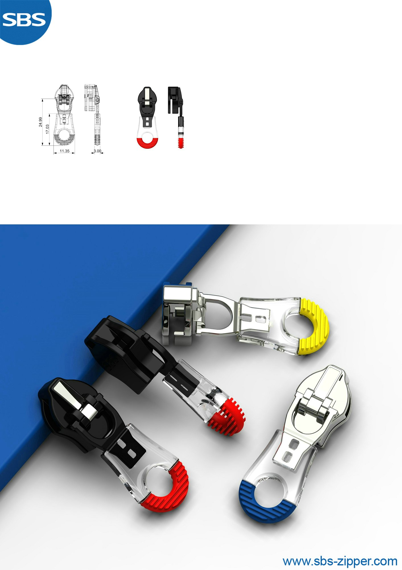 Zipper Parts Supplier 19SSO026丨SBS Zipper