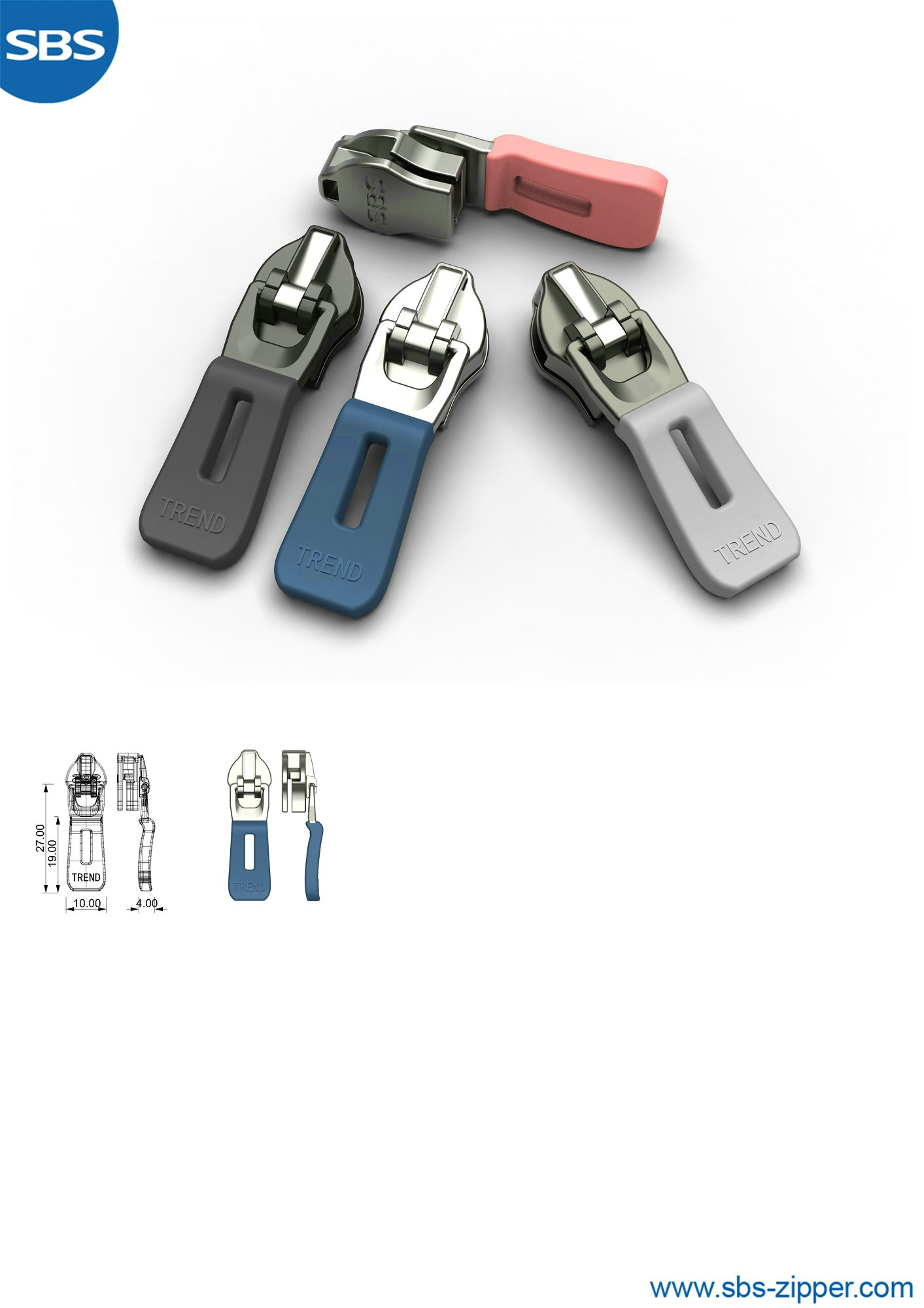 Zipper Pulls For Jackets Manufacturer 19SSO012丨SBS Zipper