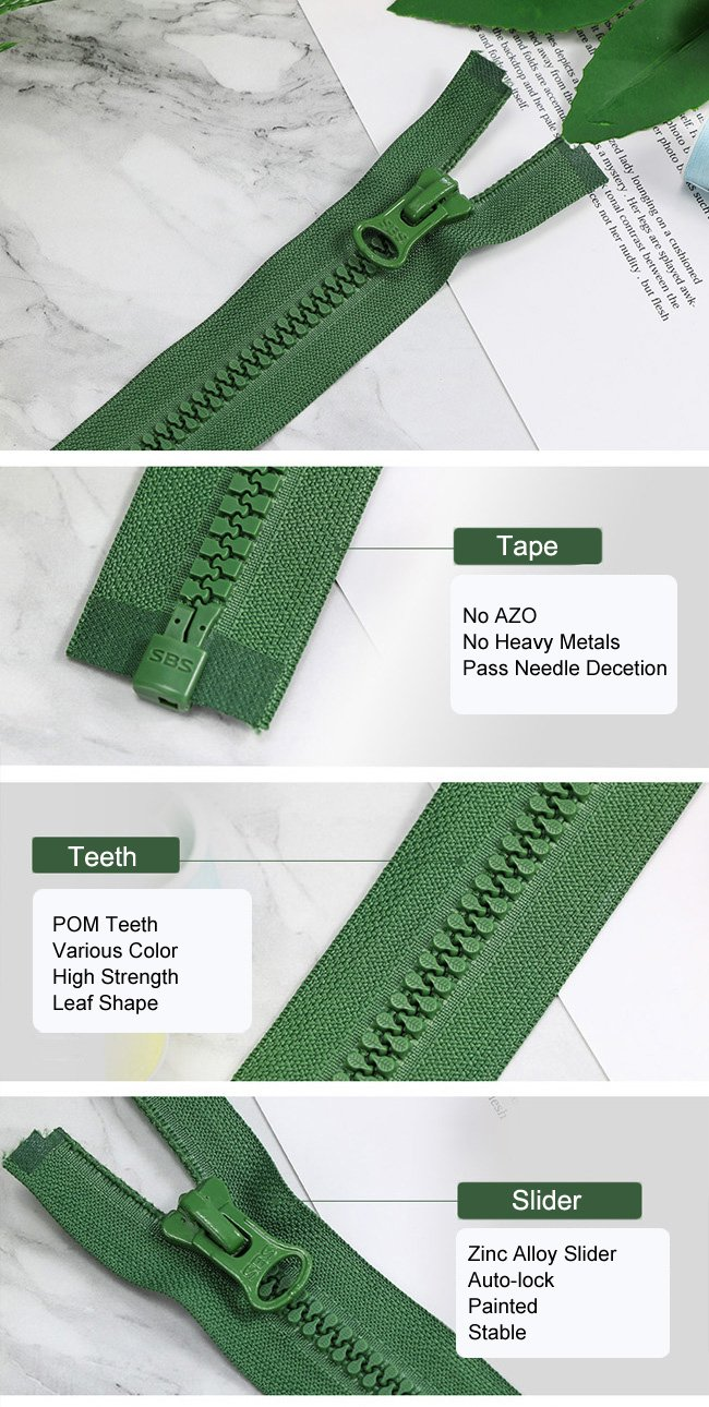 Plastic Zipper Leaf Shape Teeth supplier
