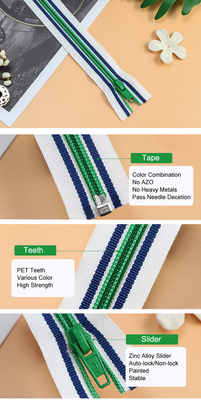 Coil Zipper Color Combination factory