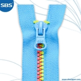 Plastic Zipper Multi-color Tape&Teeth