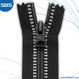 Coil Zipper With Reflective Woven Strip