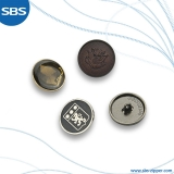 Alloy Button with Hidden Hole