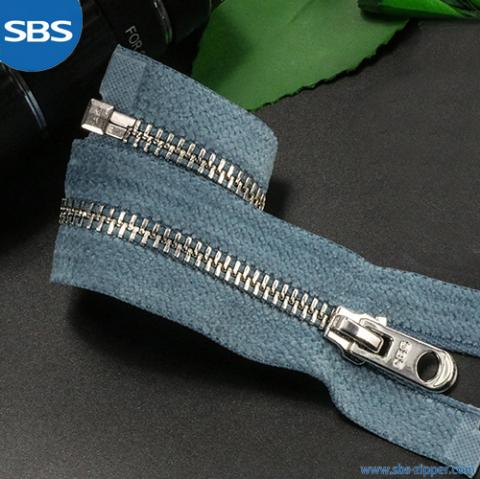 Metal Zipper With Sanded Tape
